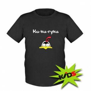 Dziecięcy T-shirt Ku-ku-ryku - PrintSalon