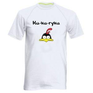 Męska koszulka sportowa Ku-ku-ryku - PrintSalon