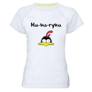 Damska koszulka sportowa Ku-ku-ryku - PrintSalon