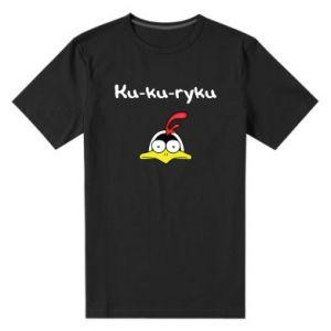 Męska premium koszulka Ku-ku-ryku - PrintSalon
