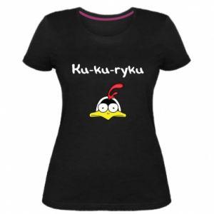 Damska premium koszulka Ku-ku-ryku - PrintSalon