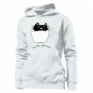 Women's hoodies Tea time, right meow - PrintSalon