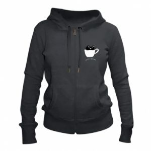 Women's zip up hoodies Tea time, right meow - PrintSalon