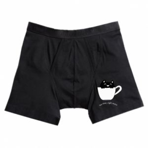 Boxer trunks Tea time, right meow - PrintSalon