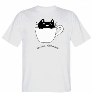 Koszulka Tea time, right meow - PrintSalon