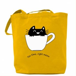 Bag Tea time, right meow - PrintSalon