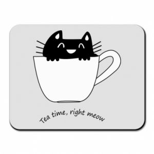 Podkładka pod mysz Tea time, right meow - PrintSalon
