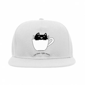 Snapback Tea time, right meow - PrintSalon