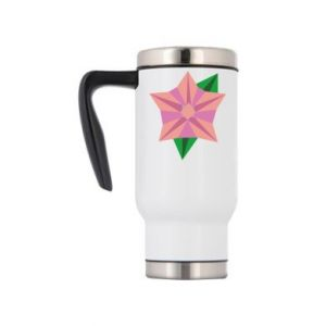 Travel mug Angle Flower Abstraction - PrintSalon
