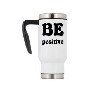 Travel mug BE positive