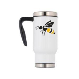 Travel mug Bee in flight - PrintSalon