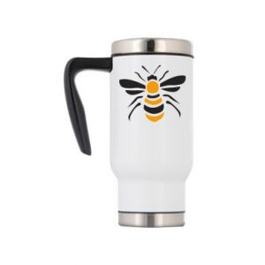 Travel mug Bee sitting - PrintSalon