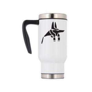 Travel mug Ancient Egyptian god Anubis