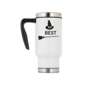 Travel mug Broom and hat Best - PrintSalon