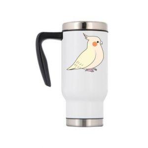 Travel mug Cute parrot