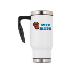 Travel mug Dead inside coffin