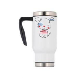 Travel mug Doggy illustration