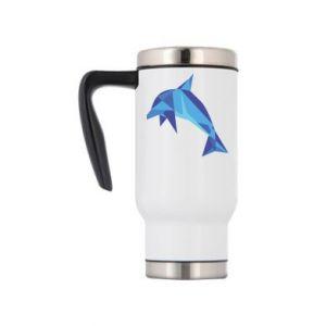 Travel mug Dolphin abstraction - PrintSalon