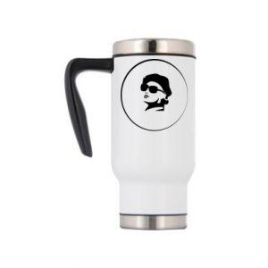 Travel mug Girl in glasses