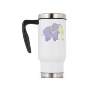 Travel mug Elephant abstraction - PrintSalon