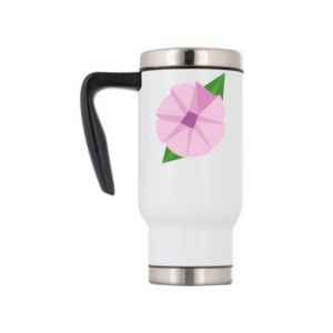Travel mug Gentle flower abstraction - PrintSalon