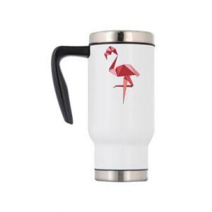 Kubek termiczny Geometria Flamingo