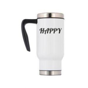 Kubek termiczny Happy, napis