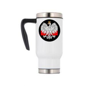 Kubek termiczny Herb Polski i flaga Polski