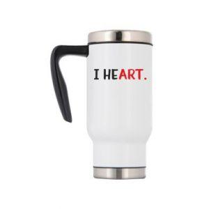 Travel mug I heart