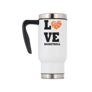 Travel mug I love basketball