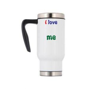 Travel mug I love me. Color