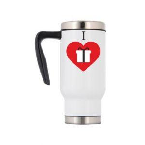 Travel mug I love presents