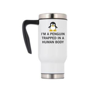 Travel mug I'm a penguin