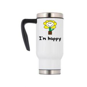 Travel mug I'm happy