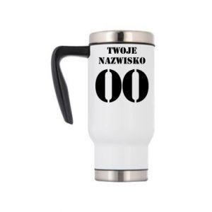 Travel mug Name and number - PrintSalon