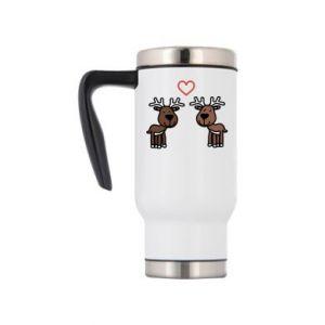 Travel mug Deer in love