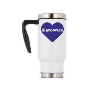 Travel mug Katowice in heart