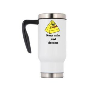 Kubek termiczny Keep calm and dreams