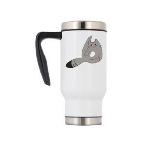 Travel mug Kitty in a funny pose