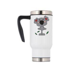 Travel mug Koala with hearts