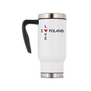 Kubek termiczny I love Poland crossword