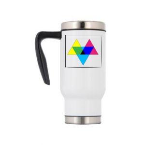 Kubek termiczny Kolorowe trójkąty