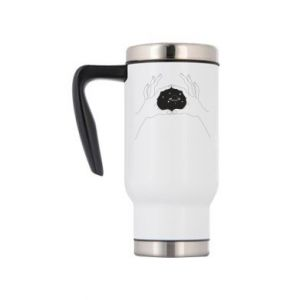 Travel mug Cosmos in hands