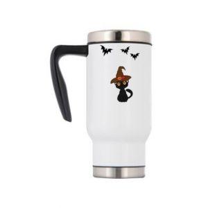 Travel mug Cat in a hat - PrintSalon