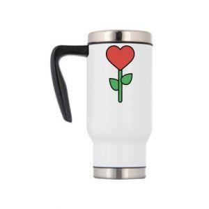 Kubek termiczny Kwiat - serca
