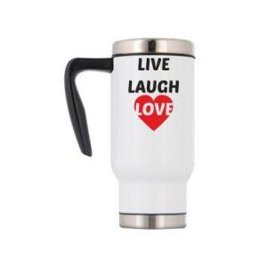 Kubek termiczny Live laugh love