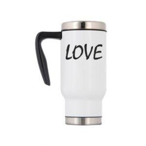 Kubek termiczny Love napis