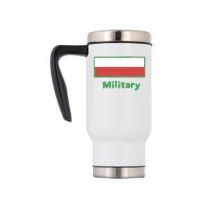 Travel mug Military and the flag of Poland