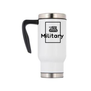 Travel mug Military with a tank