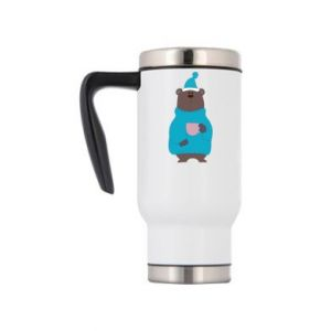 Travel mug Teddy bear in pajamas